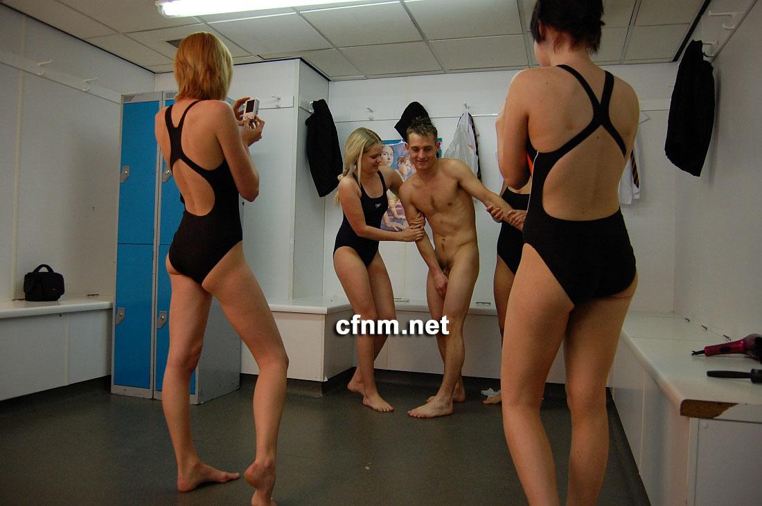 cfnm swimming